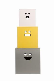 ferm living face boxes painted