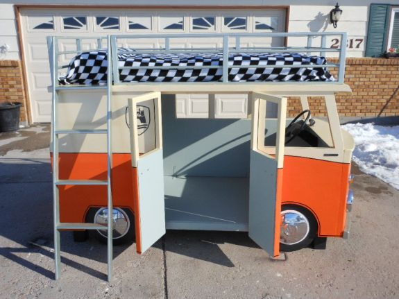 mikro bus bunk bed and playhouse